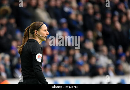 Sian Massey-Ellis English football match official who officiates generally in the role of assistant referee - Stock Image