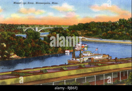 Minneapolis, Minnesota, USA - View of the Mississippi River - Stock Image