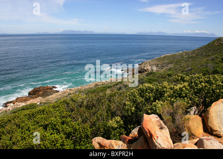 Koeelbaai Sparks Bay, Western Cape, South Africa. View from the R44 Highway. - Stock Image