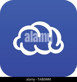 Communication cloud icon blue vector - Stock Image