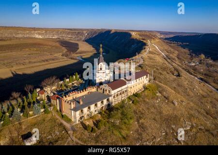 Orheiul Vechi (Old Orhei) Orthodox Church in Moldova Republic near Chisniau and Orhei city - Stock Image