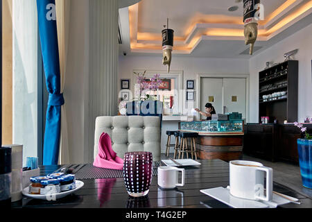 Boutique restaurant interior. Cadillac bar, Pattaya, Thailand - Stock Image