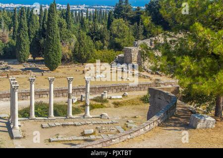 Corinthian Temple of Apollo Asklepion Kos Greece - Stock Image