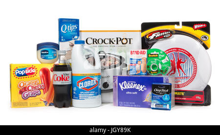 Products with trademarked names that are often used as common names - Stock Image