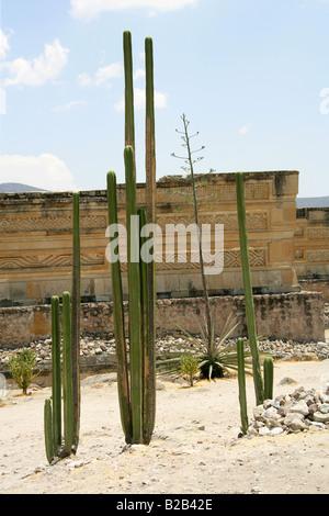 Grupo de las Columnas, Mitla Archaeological Site, San Pablo Villa de Mitla, Oaxaca State, Mexico - Stock Image