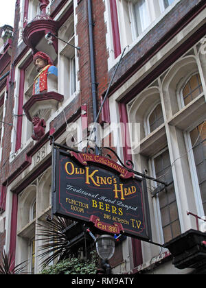 Old Kings Head Pub, Southwark - King's Head Yard, Greater London, South East England, UK,  SE1 1NA - Stock Image