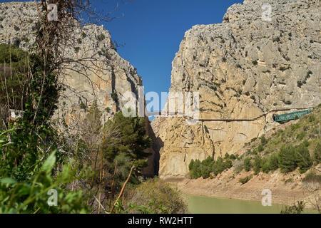 Desfiladero de los Gaitanes - Caminito del Rey. El Chorro, Málaga, Spain. - Stock Image