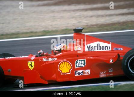 1999 Michael Schumacher German Ferrari F399 Spanish GP 3rd - Stock Image