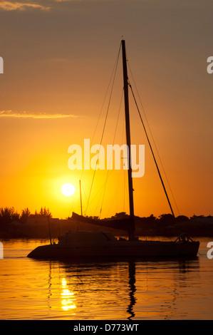 Sailboat Sunrise - Stock Image