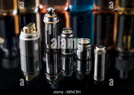 Electronic cigarette Clearomizer coils - Stock Image