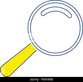 Icon of magnifier. Thin line design. Vector illustration. - Stock Image