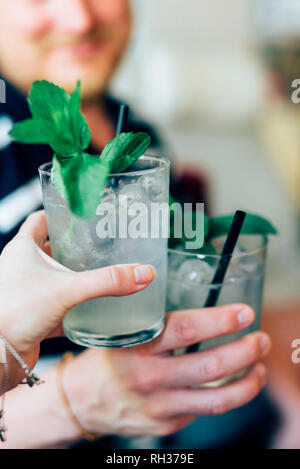 Toast with cocktails - Stock Image
