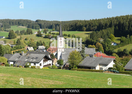 Schonwald im Schwarzwald, Baden-Wurttemberg, Germany, Europe - black forest village and birthplace of Franz Ketterer, German clockmaker - Stock Image