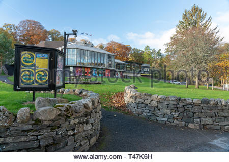 Pitlochry festival theatre, in Pitlochry, Scotland - Stock Image