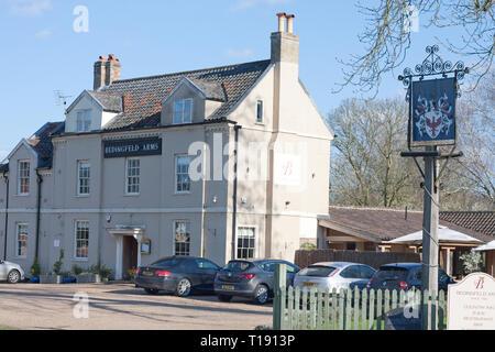 Bedingfeld Arms coaching inn, Oxborough, Norfolk - Stock Image