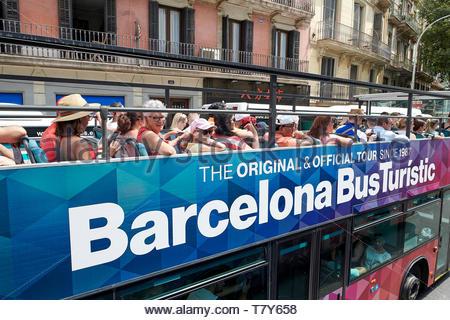 in Barcelona in Catalunya in Spain in Europe - Stock Image
