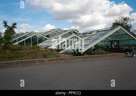 The Princess Of Wales Conservatory in The Royal Botanic Gardens Kew Gardens London England UK - Stock Image