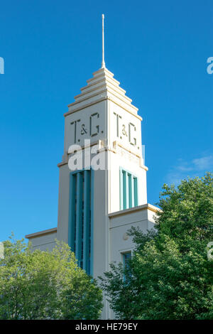 Art Deco tower of the T&G Insurance company in Albury, Australia. - Stock Image