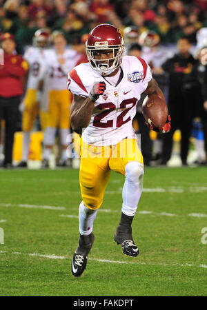 December 19, 2015. RB Justin Davis #22 of USC in action during the 2015 National Education Holiday Bowl between - Stock Image