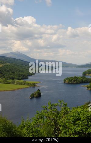Queen's View, Loch Tummel, Perthshire with Schiehallion in the background - Stock Image