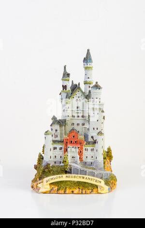 Souvenir model of Neuschwanstein castle - Stock Image
