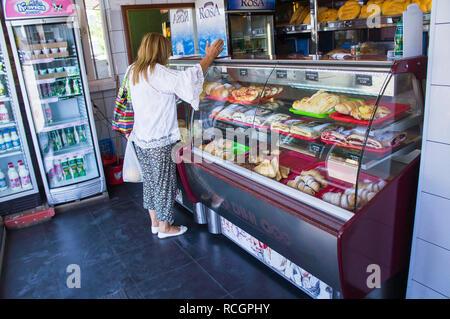 Bakery in Tuzi city in southern Montenegro, September 2nd, 2018. (CTK Photo/Libor Sojka) - Stock Image