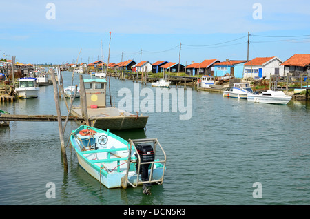 La Tremblade site ostriecole  Oyster farming harbour Charente Maritime France - Stock Image