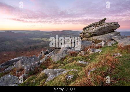 Leighon Tor Dartmoor National Park Devon Uk - Stock Image