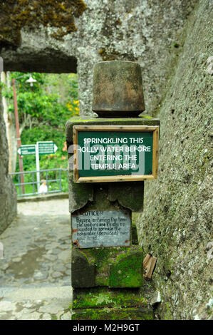 Sign at entrance to Pura Gunung Kawi temple, Bali, Indonesia - Stock Image