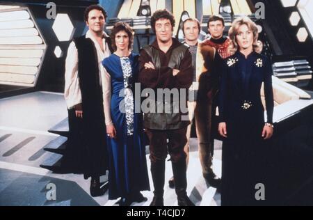 JACKSON,CHAPPELL,THOMAS,KEATING,DARROW,KNYVETTE, BLAKES 7, 1978 - Stock Image