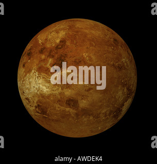 The Venus is the secondaryinternal planet within the solar system - Stock Image