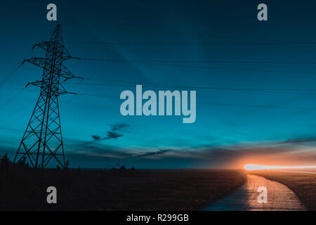 Electric Power Transmission Lines - Stock Image