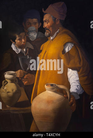 The Waterseller of Seville, Diego Velazquez, 1618-1622, Galleria degli Uffizi, Uffizi Gallery, Florence, Tuscany, Italy - Stock Image
