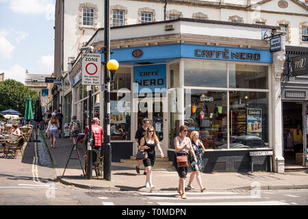 Caffe Nero coffee shop in Regent St, Bristol, UK - Stock Image