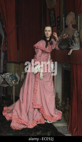 Portrait of the Marquise de Miramon, née, Thérèse Feuillant; Jacques Joseph Tissot, French, 1836 - Stock Image