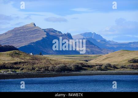 View across Loch Sligachan, Isle of Skye, Highland Region, Scotland, UK - Stock Image