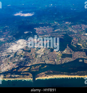 Gold Coast Queensland, Australia, aerial view - Stock Image