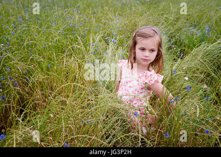 Portrait of girl in nature - Stock Image