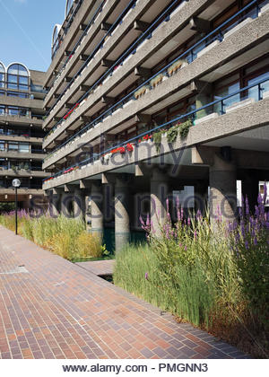 Bunyan Court within the Barbican Estate: London. - Stock Image