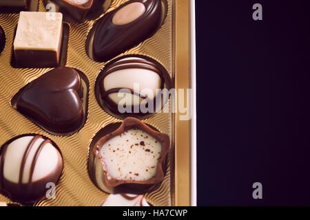Chocolate, Chocolate Candy, Truffle - Stock Image
