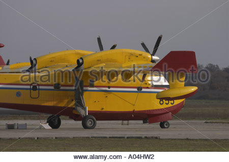 Canadair CL-415 '855' water bomber Croatian Air Force - Stock Image
