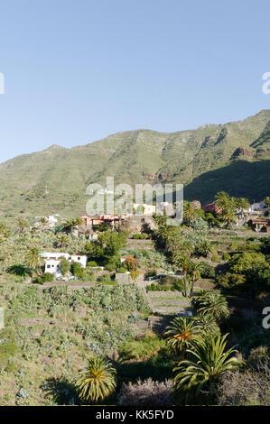 Masca Macizo de Teno mountains tenerife canary islands canaries rural - Stock Image