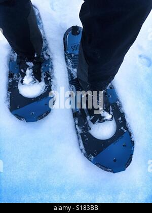 Snow shoeing - Stock Image