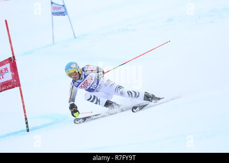08 Dec. 2018 Val d'Isère, France. Felix Neureuther of Germany competing in men's Giant Slalom Audi FIS Alpine Ski world Cup 2019 Skiing Racing - Stock Image