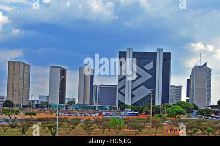 Banco do Brazil headquarters Brasilia Brazil - Stock Image