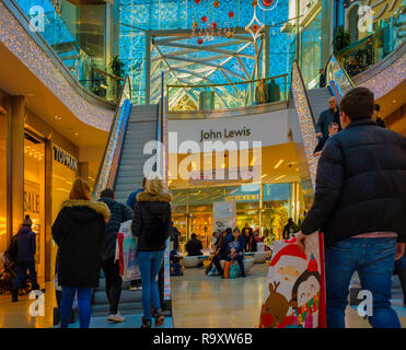 Shopping in the Highcross Centre in Leicester. - Stock Image