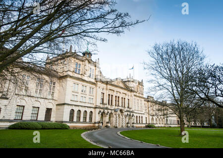 Cardiff University, formerly University College of South Wales and Monmouthshire, Main College Building, by W. D. Caroe and Partners, 1904-1909 - Stock Image