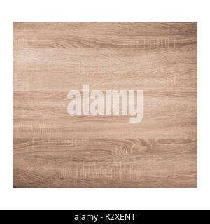 Brown wooden texture background isolated on white background. Top view. - Stock Image