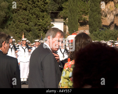 Geoff Hoon MP, then Secretary of State for Defence, attending the  Tercentenary Celebrations in Gibraltar, 2004, honoured guest - Stock Image