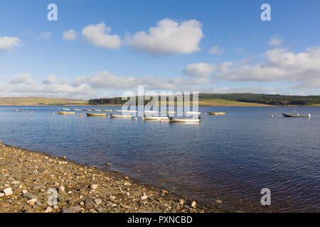 Llyn Brenig reservoir in the Denbigh moors built in in 1976 and run by Dwr Cymru or Welsh Water it is a popular area for cycling fishing and hiking - Stock Image